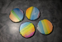 Load image into Gallery viewer, Slate Rainbow Coasters Set of 4