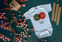 Load image into Gallery viewer, Venn Diagram Baby Bodysuit - Nerd Onsie - Math Bodysuit - Baby Math - Geek Gift - Geek Baby - Math Baby - Engineer Baby - Baby Gift