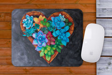 Load image into Gallery viewer, Heart Succulents Mousepad