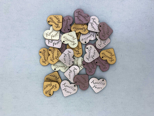 Jewelry Tags - Jewellery Tags - Necklace Tags - Hanging Tags - Leather tags - Garment Tags - Product Tags - Set of 12 - HEARTS