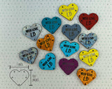 Leather Garment Tags - Hearts