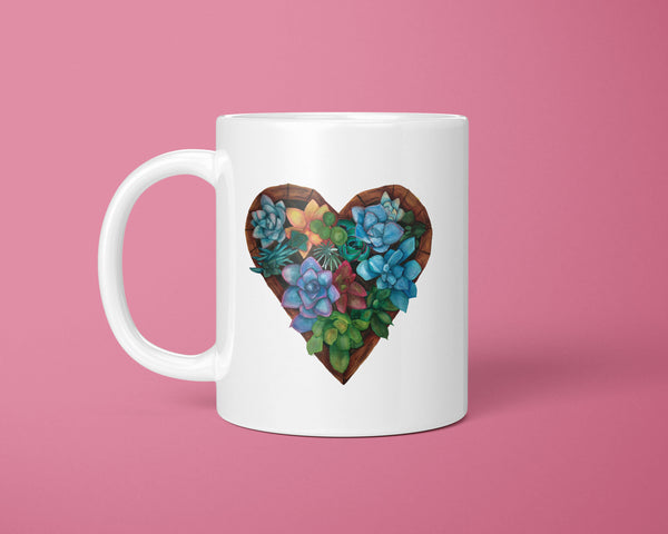 Succulents in Love Coffee Mug