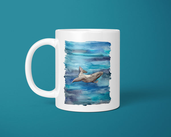 Painted Whale Coffee Mug