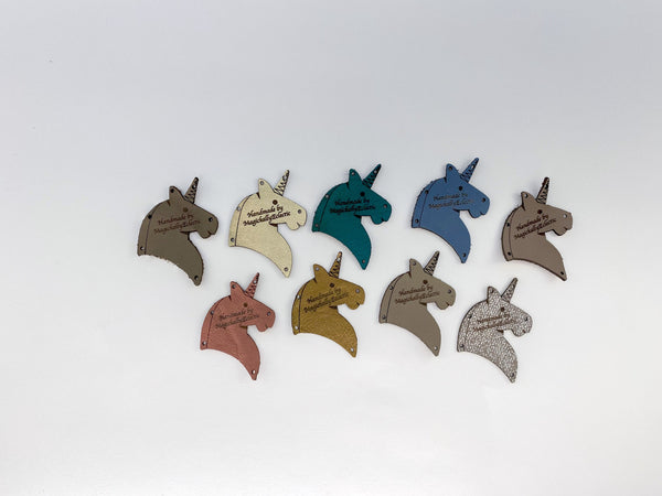 Leather Garment Tags - Unicorns