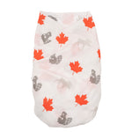Canada Canadian canuck maple leaf baby muslin swaddle gift