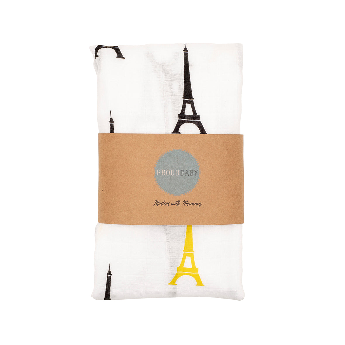 French France eiffel tower baby muslin swaddle gift