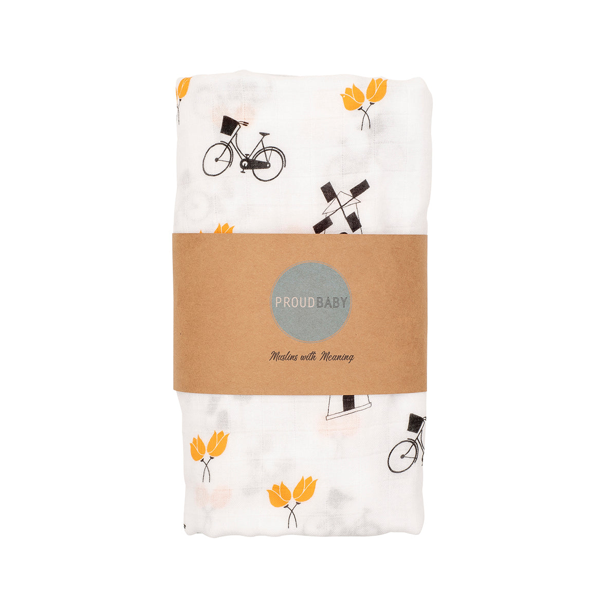 Holland Netherlands baby muslin swaddle gift