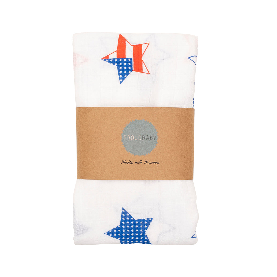 USA American stars and stripes baby muslin swaddle gift