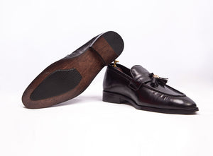 Plain Leather Tassel loafer