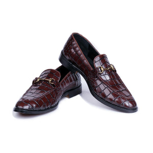 Stone Allegator Loafer (Brown)