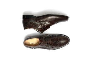 Textured Brogue Brown Derby