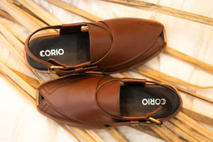 Brown Traditional Peshawari Chappal