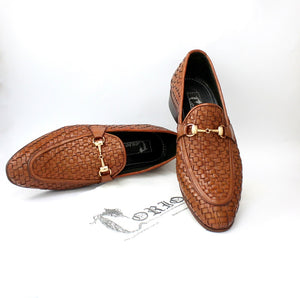 Penny loafer in Woven Leather