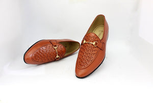 Handwoven buckle up loafer
