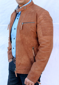 Tan Suede Stylish Jacket