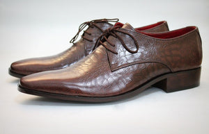 rubber sole derby shoes
