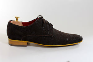 derby shoes with pattern