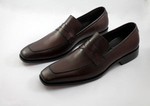 dark brown penny loafers