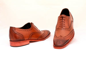 double tone brogue shoes
