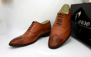 double tone brogue shoe