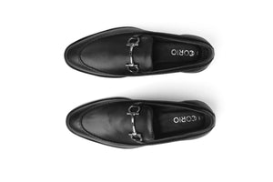Black Buckle Loafer