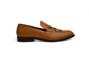 Tan Butterfly Loafer