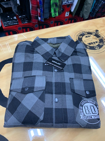 BDCC Kevlar Flannel Shirt - Black/Grey Check