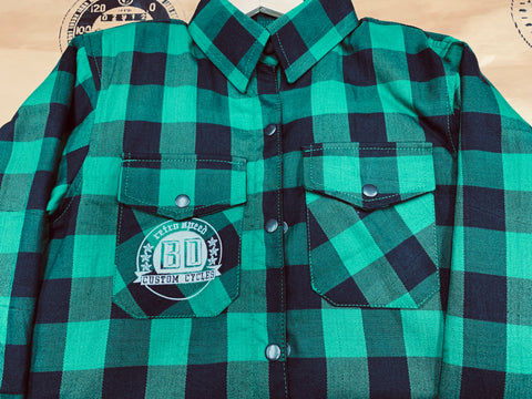 BDCC Kevlar Flannel Shirt - Black/Green Check