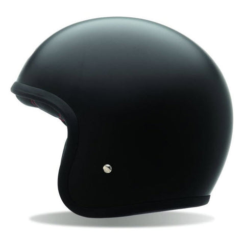 Bell Custom 500 Open Face Helmet - Matt Black No Studs