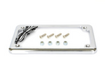 Flat Low Profile Number Plate frame with LED Illumination - CHROME