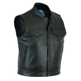 Johnny Reb Pacific Leather Vest - Black