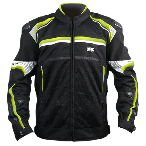 Motodry Rapid Vented Jacket - Black/Fluro Yellow