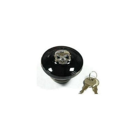 Black Skull Locking Gas Cap by Zodiac - Vented