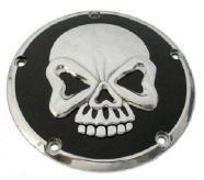 Derby Cover - Skull Design Black -5 Hole