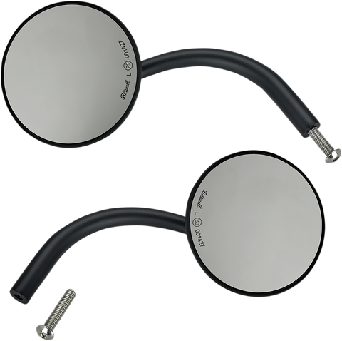 Biltwell Utility Mirrors Round for Perch- Black