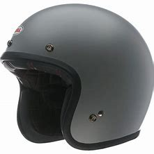 Bell Custom 500 Open Face Helmet - Grey with Studs