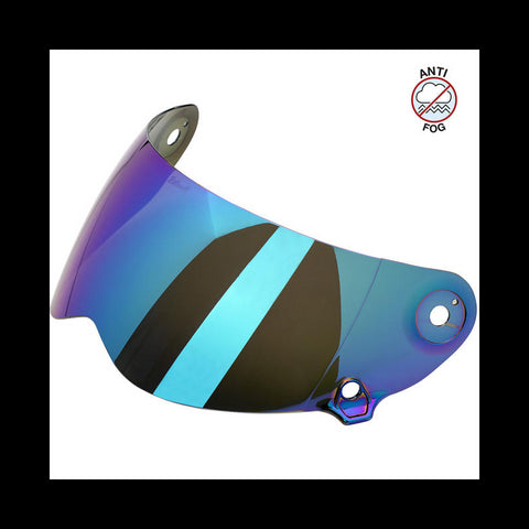 Biltwell Lane Splitter Visor- Rainbow Mirror