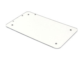 Flat Number Plate Backing Plate-CHROME