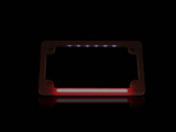Flat Number Plate Frame with LED Red Brake Light - BLACK