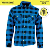 Johnny Reb Waratah Protective Shirt with Kevlar Lining - Black/Blue Check