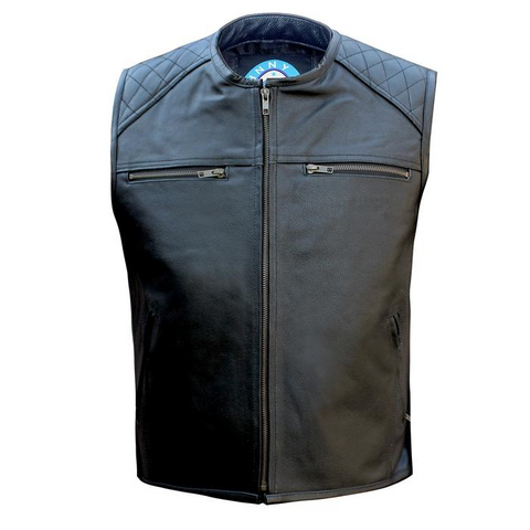 Johnny Reb Savage River Leather Vest - Black