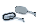 Kuryakyn Heavy Industry Mirrors - CHROME & BLACK