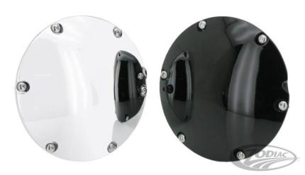 Derby Cover - Domed Black -5 Hole