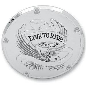 Derby Cover - Eagle Spirit Chrome -5 Hole