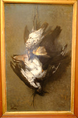 Hanging Game Birds French Oil on Canvas