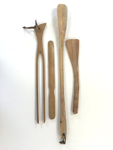 Four Handcarved Wood Kitchen Pieces from Oregon Hardwoods