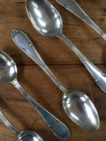 Set of Six Art Deco English Soup Spoons
