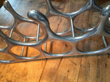 French Metal Deco Wine Rack