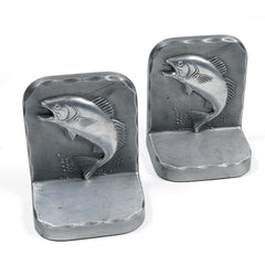 Angling Pewter Bookends
