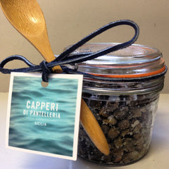 Sicilian Salt Dried Capers 350 grams glass jar